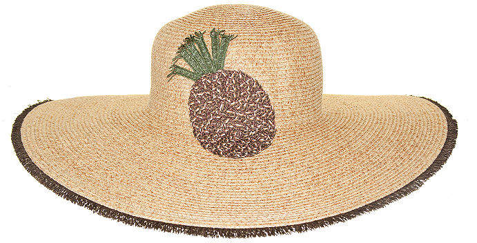 5acca4212 Straw Embroidered Floppy Hat