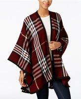 Charter Club Exploded Plaid Poncho, Only at Macy's