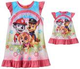 Toddler Girl Paw Patrol Skye, Chase & Marshall Dorm Nightgown & Doll Dress Set