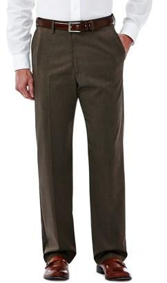 Haggar Big & Tall Premium Stretch Classic-Fit Plain-Front Dress Pants