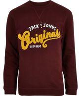 River Island Red Jack & Jones Originals Sweatshirt
