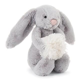 Jellycat Bashful Snow Bunny Grey Small Plush