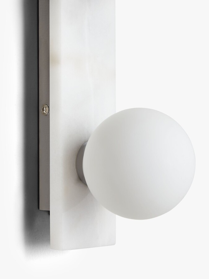 Thumbnail for your product : John Lewis & Partners 3 Shade Marble Bathroom Wall Light, White