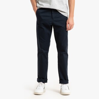 """La Redoute Collections Straight Cut Basic Chinos, Length 33.5"""""""