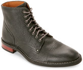 Cole Haan Black Canton Stitch Cap Toe Lace-Up Boots