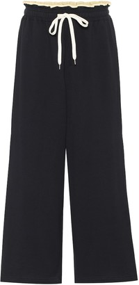 Marni High-rise cotton track pants