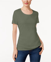Karen Scott Scoop-Neck T-Shirt, Only at Macy's