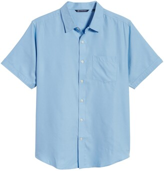 Cutter & Buck Windward Short Sleeve Twill Button-Up Shirt
