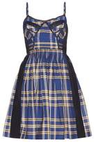 Miu Miu Lace-trimmed check cotton dress