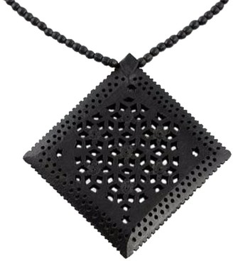 Novica Handmade Ebony Wood 'Mughal Enchantress Diamond' Necklace
