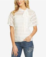 CeCe Lace Tie-Neck Top