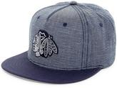 American Needle Indigo Go Chicago Blackhawks Snapback Hat