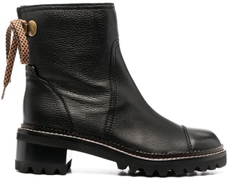 See by Chloe Block Heel Ankle Boots