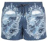 Dolce & Gabbana Majolica and polka-dot print swim shorts