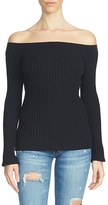 1 STATE Women's 1.state Ribbed Off The Shoulder Sweater