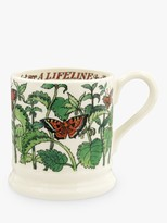 Emma Bridgewater Good Gardening Nettles Half Pint Mug, 280ml, Green/Multi