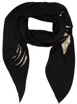 Mayle Velvet-Accented Scarf