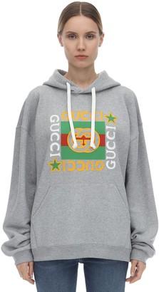 Gucci Star Print Cotton Jersey Hoodie