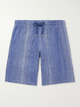 Vilebrequin Bolide Striped Linen and Cotton-Blend Drawstring Shorts - Men