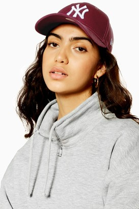 Topshop Womens Burgundy New Era Ny 940 Cap - Burgundy