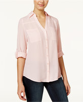 Amy Byer Juniors' Roll-Tab Blouse