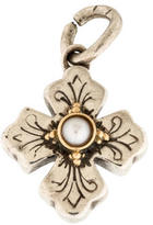 Konstantino Pearl Petite Flared Cross Pendant