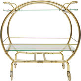 One Kings Lane Vintage Midcentury Curved Brass Bar Cart