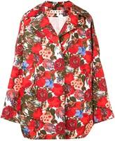 Marni oversized rose print coat