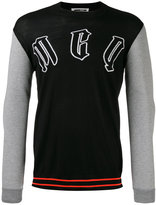 McQ by Alexander McQueen contrast knitted sweater - men - Cotton/Polyamide/Polyester/Wool - M