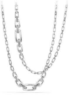 David Yurman Diamonds& Sterling Silver Chain Necklace