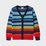 Paul Smith Boys' 7+ Years Cotton-Cashmere Striped Cardigan