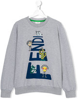 Fendi teen printed sweatshirt - kids - Cotton/Spandex/Elastane - 14 yrs