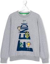 Fendi teen printed sweatshirt