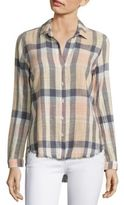 Bella Dahl Plaid Cotton Blend Shirt