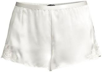 Josie Natori Lace-Trimmed Silk Shorts