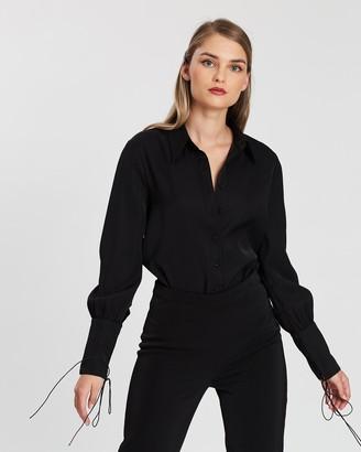 KIANNA - Women's Black Shirts & Blouses - Isla Shirt Bodysuit - Size One Size, 8 at The Iconic