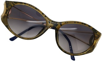 Christian Dior Purple Plastic Sunglasses