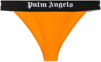 Palm Angels Colour Block Logo Print Thong