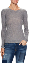 Cashmere Fine Ribbed Crewneck Sweater