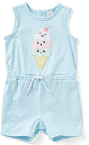 Starting Out Baby Girls 12-24 Months Polka-Dot Ice-Cream Applique Sleeveless Shortall