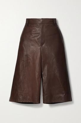Brunello Cucinelli Leather Shorts - Brown
