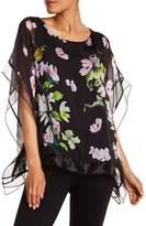 Luma Sheer Floral Caftan Blouse
