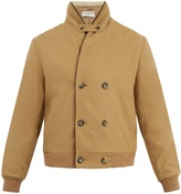 ÉDITIONS M.R Double-breasted faux-shearling wool-blend jacket