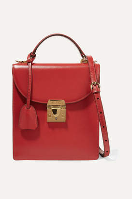 Mark Cross Uptown Textured-leather Shoulder Bag