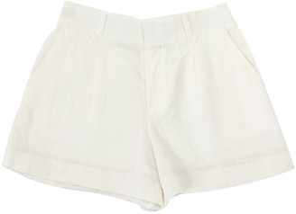 Chloé White Linen Shorts for Women