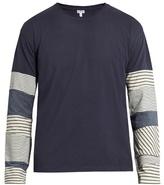 Loewe Contrast-sleeve Cotton-jersey T-shirt