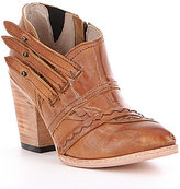 Freebird Gate Leather Triple Side Strap Block Heel Booties