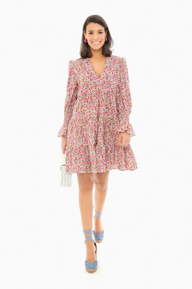 Pomander Place Ditsy Floral Kenzo Tiered Mini Dress