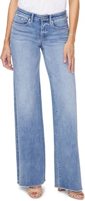 NYDJ Teresa Fray Hem Wide Leg Jeans