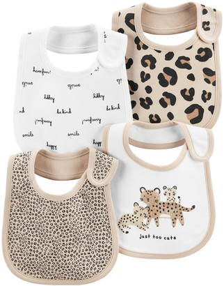 Carter's Baby 4-Pack Animal Print Teething Bibs